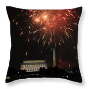 Fourth Of July Fireworks At Washington Dc Throw Pillow