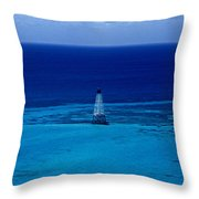 Fowery Rocks Lighthouse Throw Pillow