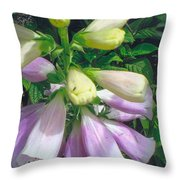 Foxglove In Sunlight-2 Throw Pillow