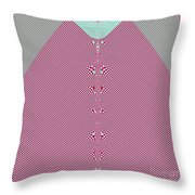 Fractal 28 Pink Gingham Shirt Throw Pillow