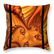 Fractal Triptychon Throw Pillow