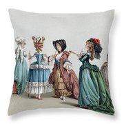 France Fashion, C1730 Throw Pillow