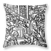 France: Hospital, C1500 Throw Pillow