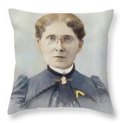 Frances Elizabeth Willard (1839-1898) Throw Pillow