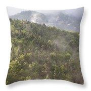 Franconia Notch State Park - White Mountains Nh Usa Throw Pillow