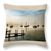 Frankfort Morning Mist Throw Pillow