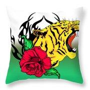 Freak Tiger  Throw Pillow