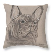 French Bulldog - Snickers Throw Pillow