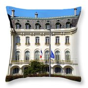 French Embassy In Vienna Throw Pillow