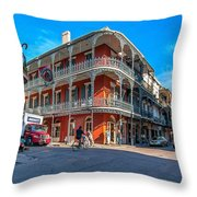 French Quarter Afternoon Throw Pillow