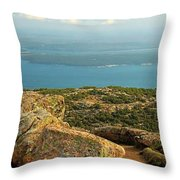 Frenchman's Bay From Cadillac Mountain Throw Pillow
