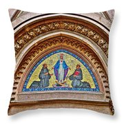 Fresco In Front Of Saint Anthony's Church In Istanbul-turkey  Throw Pillow