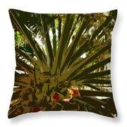 Fresh Cut Palm 2 Throw Pillow