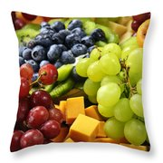 Fresh Fruits Throw Pillow by Elena Elisseeva