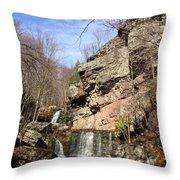 Fresh Water Streams Around Poconos Pa America Usa  Throw Pillow