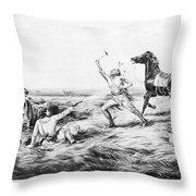 Frontiersman, 1858 Throw Pillow