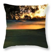 Frost On The West Course Throw Pillow
