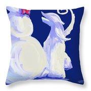 Frosty Blue Throw Pillow
