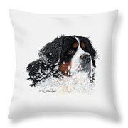 Frosty Outside With Frost Throw Pillow