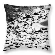 Frozen Riverbed In Winter Throw Pillow
