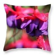 Fuchsia Named Dark Eyes Throw Pillow