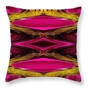 Fuchsia Sensation Zigzags Throw Pillow