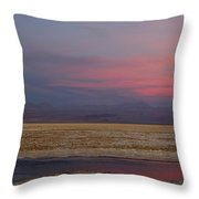 Full Moon Over Laguna De Chaxa Throw Pillow