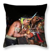 Fulnio Indians Of Brazil  Throw Pillow