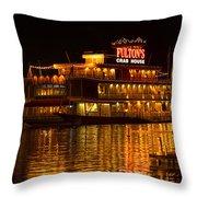 Fulton's Crab House Throw Pillow
