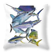 Gamefish Collage Throw Pillow