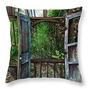 Garden Backyard Throw Pillow