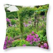 Garden Of Claude Monets House, Giverny Throw Pillow