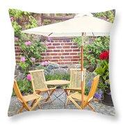 Garden Seating Area Throw Pillow