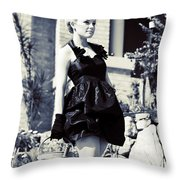 Gardening In Style Throw Pillow