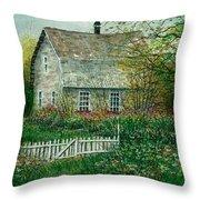 Gardening Shed Throw Pillow