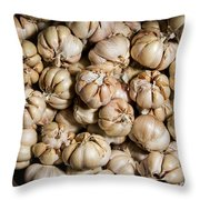 Garlic In A Basket. Throw Pillow