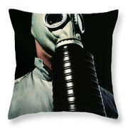 Gas And Darkness Throw Pillow