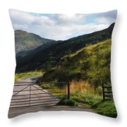 Gates. Rest And Be Thankful. Scotland Throw Pillow