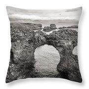 Gatklettur Arch In Hellnar Throw Pillow