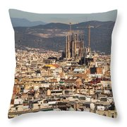 Gaudi La Sagrada Familia Barcelona  Throw Pillow