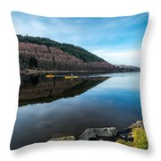 Geirionydd Lake  Throw Pillow