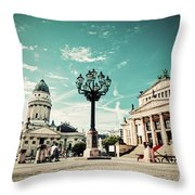 Gendarmenmarkt In Berlin Germany Throw Pillow