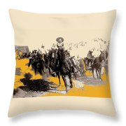 General Pancho Villa At Ojinaga A Military Triumph 1916-2008 Throw Pillow