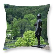 General Warren At Little Round Top Throw Pillow