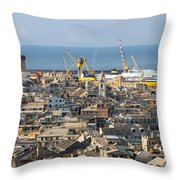 Genova. The Old Town  Throw Pillow