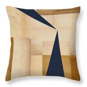 Geometry Indigo Number 5 Throw Pillow by Carol Leigh