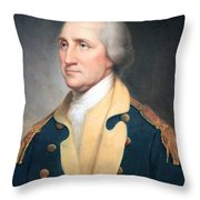 George Washington By Rembrandt Peale Throw Pillow