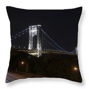 George Washington Bridge - Memorial Day 2013 Throw Pillow