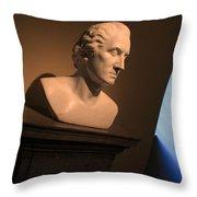 George Washington Dark Blue -- Horatio Greenough Throw Pillow