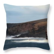 Georges Head Kilkee Throw Pillow by Peter Skelton